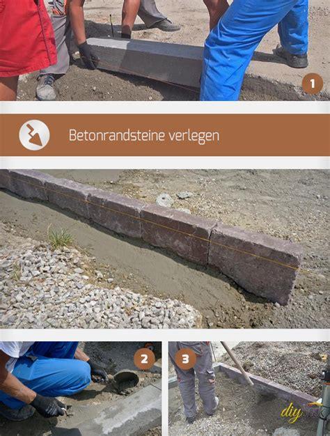 Borde Setzen Beton by Randsteine Setzen Anleitung Um Betonrandsteine Zu