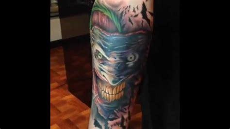 joker tattoo youtube the making of my joker tattoo youtube