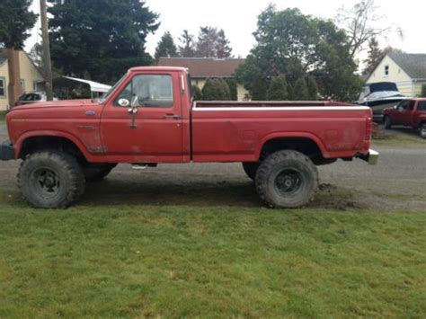 purchase used 1981 ford ranger f250 single cab 4x4 runs