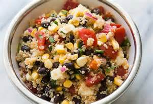 mexican quinoa salad with black beans corn and tomatoes recipe simplyrecipes com