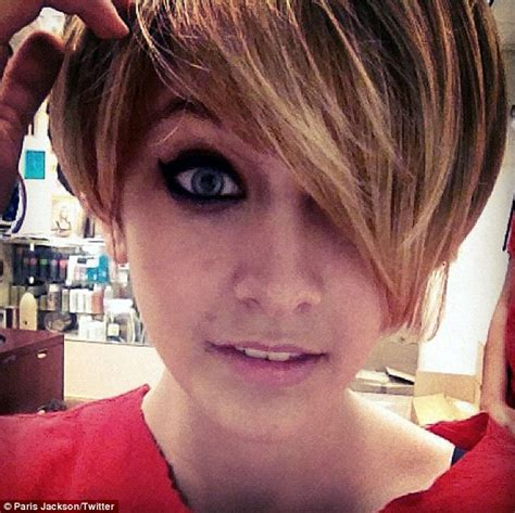 father oif teenager cut hair to look like george jefferson has paris jackson cut her hair in homage to miley cyrus