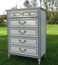 Gray Furniture Paint by Shabby Chic Dresser Painted Furniture Gray And White