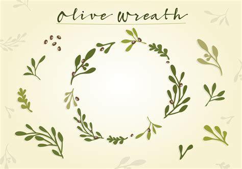 olive vector olive wreath vector download free vector art stock