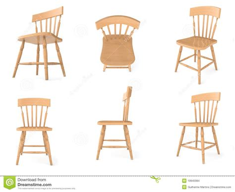 Wooden Chairs In Different Angles Stock Images   Image: 19945984