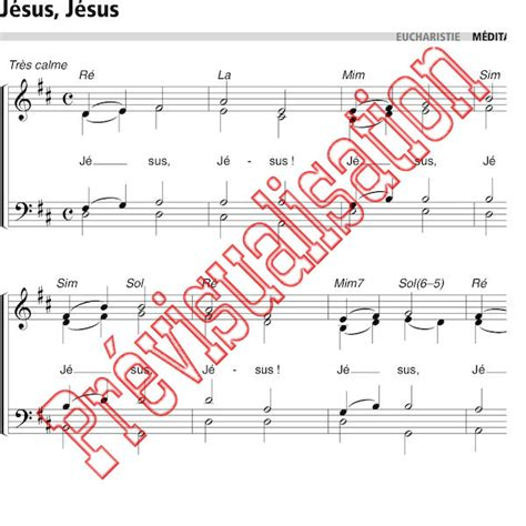 partition chant jesus jesus