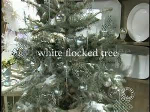 white flocked tree videos holidays how to s ideas