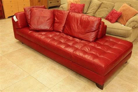 red leather chaise sofa natuzzi red leather sofa chaise colleen s classic