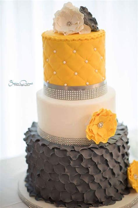 yellow and grey wedding cakes a wedding cake blog grey and yellow wedding cake cakecentral com