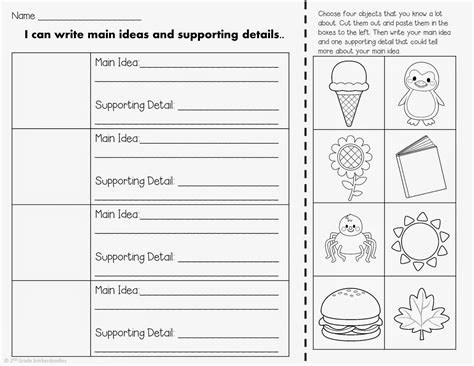 Idea And Supporting Details Worksheets 2nd Grade by 13 Best Images Of Idea Detail 2nd Grade Worksheet Key Key Idea And Details