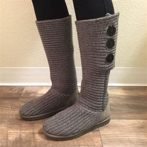 cardy knit ugg boots 34 ugg shoes ugg classic cardy ii knit boot from
