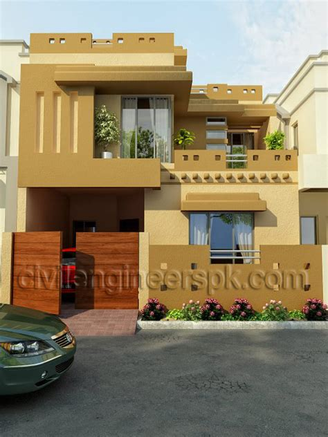 home front view design pictures in pakistan house front views civil engineers pk