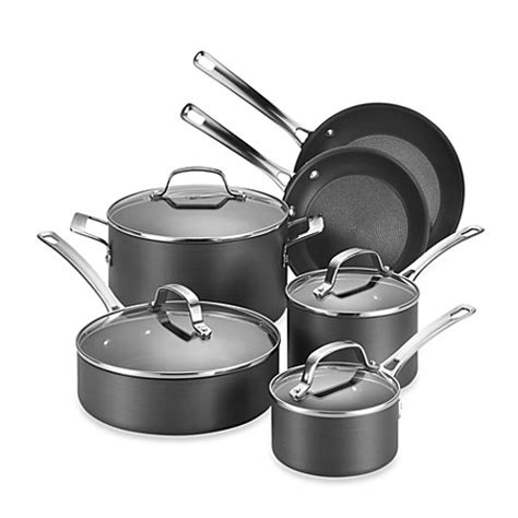 Bed Bath And Beyond Cookware Sets Circulon 174 Genesis Anodized Nonstick 10 Cookware Set And Open Stock Bed Bath Beyond