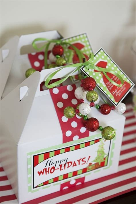 kids grinch inspired christmas party favor ideas boy s