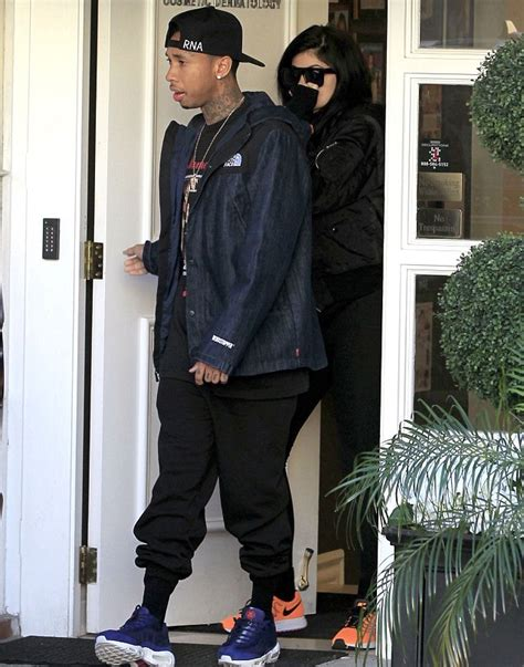 Geoff Max Travis Navy White tyga out with jenner wears supreme x the