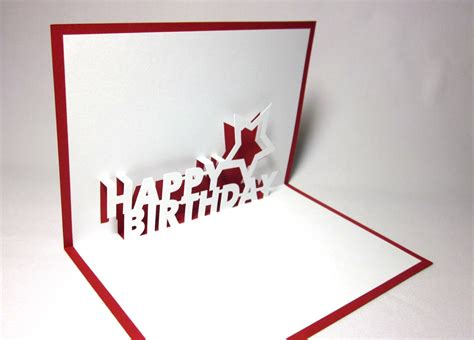 birthday 3d card template happy birthday pop up card by galinblack on etsy