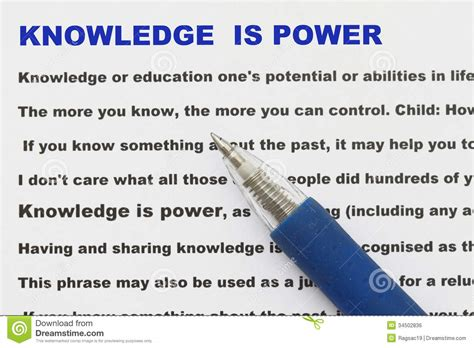L Of Knowledge Meaning knowledge is power abstract stock photo image 34502836