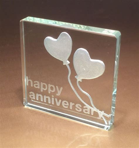 25th wedding anniversary gift ideas 25th silver wedding anniversary gifts spaceform glass