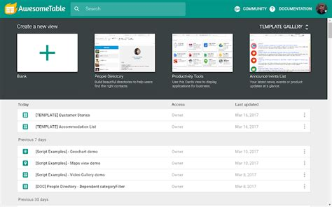 awesome tables cards view spreadsheet template awesome table g suite marketplace