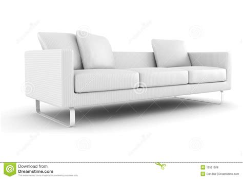 couch for free 3d couch isolated on white background royalty free stock