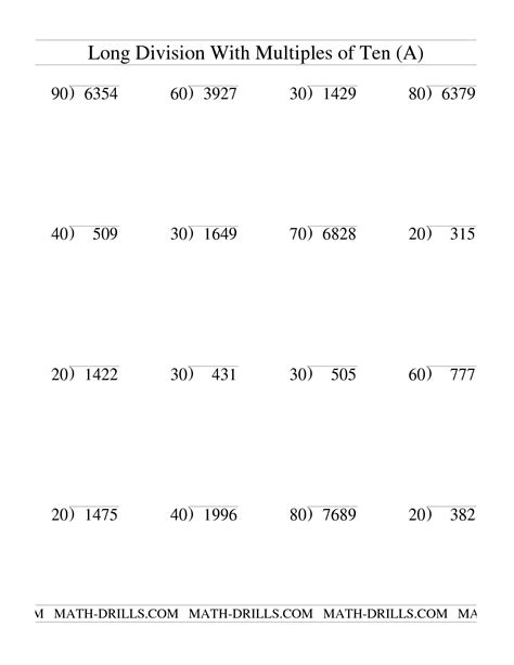 2 And 3 Digit Division Worksheets by 10 Best Images Of 2 Digit Divisor Division Worksheets 2
