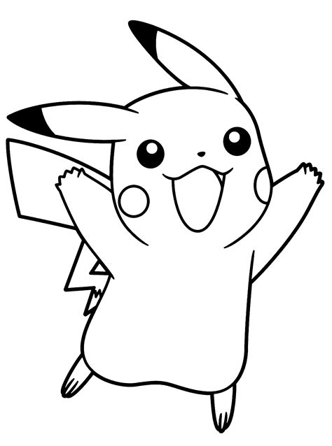 printable coloring pages pikachu coloring pages to download and print for free