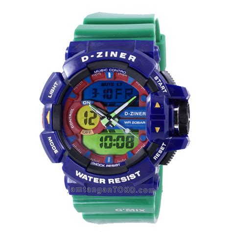 Best Sale Jam Tangan Pria D Ziner Original Limited Edt 1 gambar d ziner g mix dz 8089 blue green glossy original