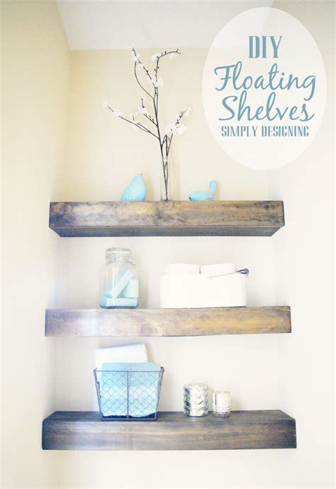 floating bathroom shelves diy floating shelves