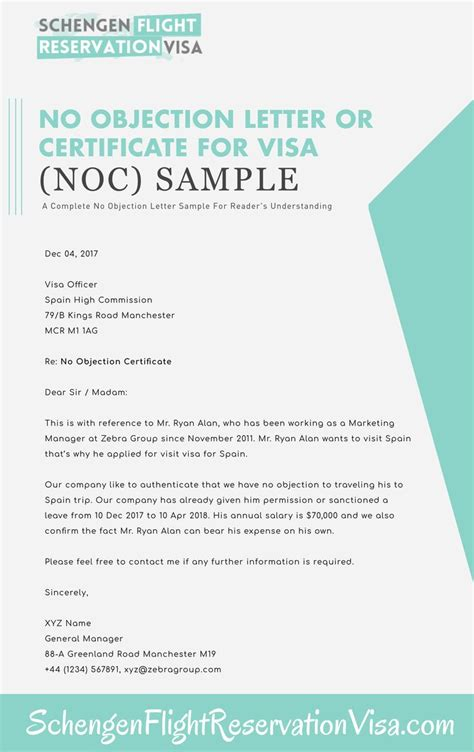 No Objection Letter For Insurance Claim no objection letter for visa application sle schengen visa