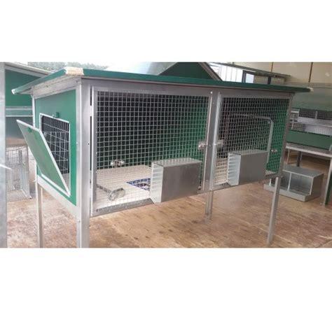frontali gabbie gabbia per riproduttori conigli da esterno a due box