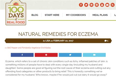 Pdf 100 Days Real Food Wholesome by The Eczema Company In The News