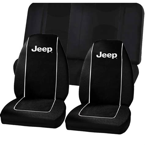 Seat Covers For Jeep Jeep Logo Black High Back Seat Covers Mesh Split Bench