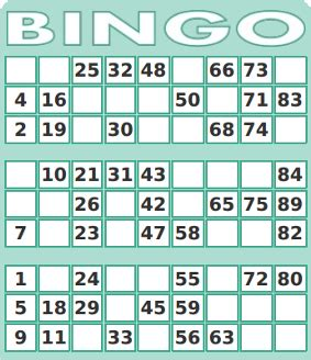 bingo standard card template best photos of standard bingo numbers free printable