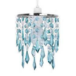 Crystal Chandelier Lamp Shades Teal Blue Green Acrylic Crystal Ceiling Light Lamp Shade