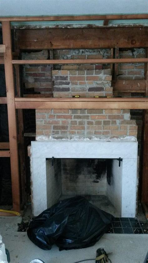 stacked stone fireplace surround on this how