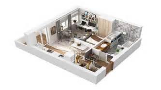 40 square meter apartment design in rome 3d