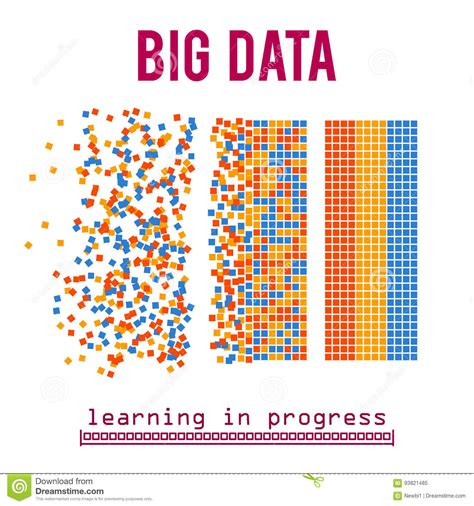 learning for beginners concepts and algorithms data sciences volume 1 books big data visualization vector background stock vector