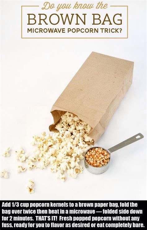 How To Make Popcorn In A Brown Paper Bag - brown paper bag popcorn trusper