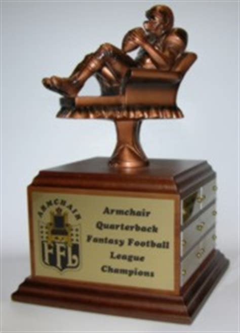 fantasy football armchair trophy armchair quaterback fantasy football award