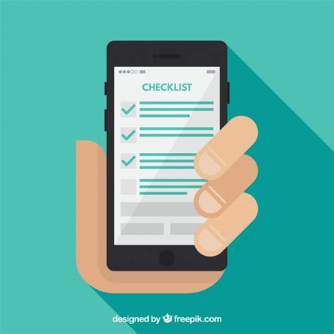 Background Check Software Free Flat Background Of Holding A Mobile Phone With