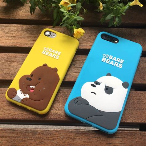 Iphone 5 Holder 1 yellow blue cases for apple iphone 5 5s se 6 6s 7 plus we bare bears soft silicone phone