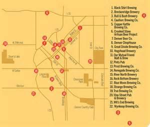 colorado brewery map 17 best ideas about denver breweries on denver