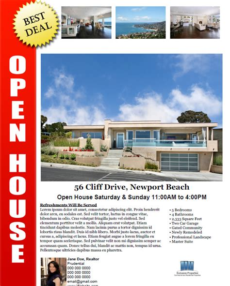 real estate open house ideas open house flyer template sle