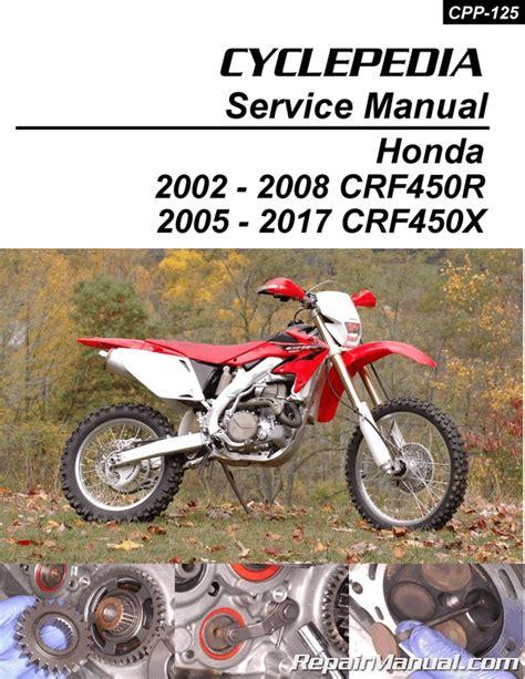 Honda Service Manual by Honda Crf450r Honda Crf450x Print Motorcycle Service