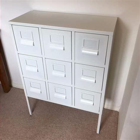 Metal Filing Cabinet Ikea White Ikea Sprutt Metal Office Cabinet Drawers In Llanishen Cardiff Gumtree