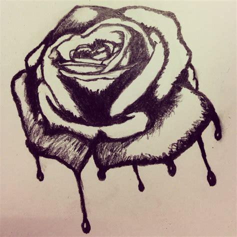 imagenes de flores we heart it dibujo a l 225 piz de una rosa triste we heart it