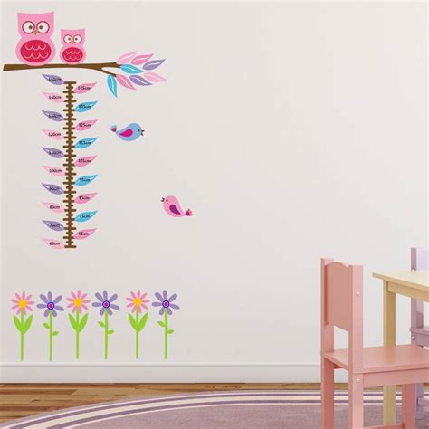 height chart wall sticker owls on branch height chart wall sticker by mirrorin notonthehighstreet