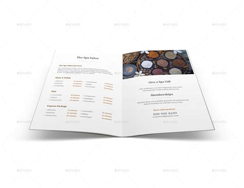 letter size brochure template spa menu brochure a5 half letter sizes by mike pantone