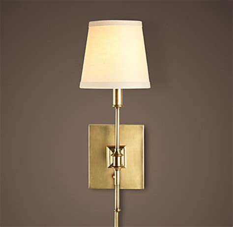 Sconces Restoration Hardware library sconce