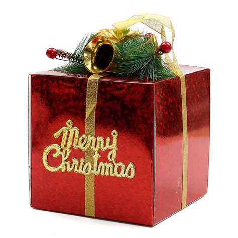 glitter christmas gift present packing box ornament xmas