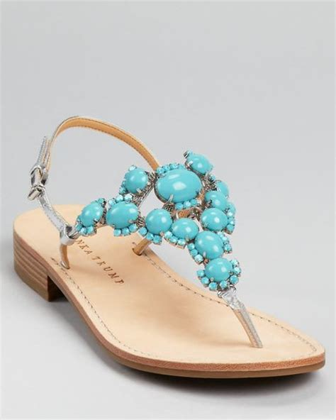 turquoise sandal ivanka sandals valerie in pink turquoise lyst